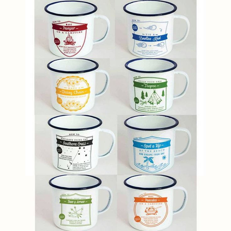 TMOD Adventure enamel range has us very excited. Cool designs on each mug give you helpful hints or even recipes that are essential to every camper! Collect the set to try them all.