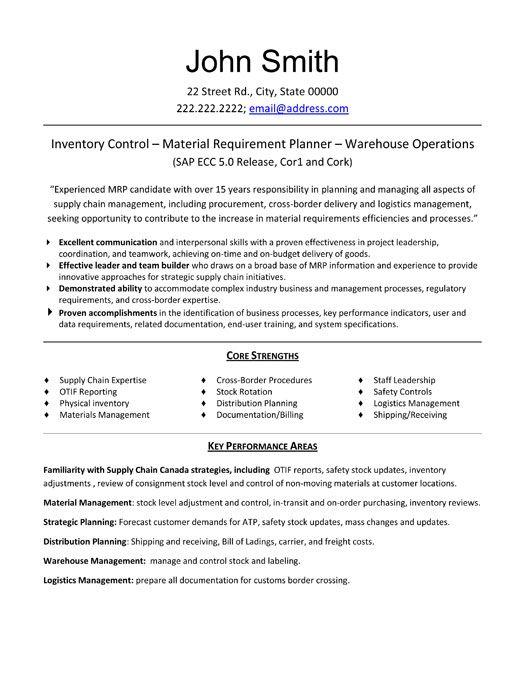 sample resume logistics coordinator
