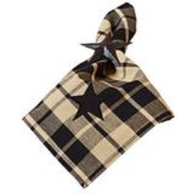 Black Star Farmhouse Napkin ~ napkin measures 18 inches by 18 inches.
