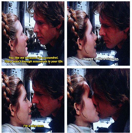 CLASSIC!!! Classic classic classic! I love this scene!! (Can you tell?) Most quotable love scene EVER! Funny AND romantic--the best kind :)