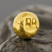 Ancient GOLD COIN Piloncito 2.440 g Majapahit Kingdom Java Indonesia 750 1300 AD