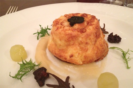 Recipe for twice backed Caerphilly cheese souffle
