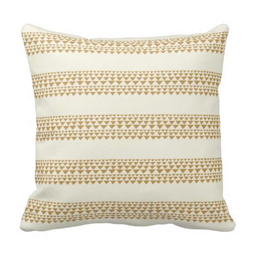 Modern Throw pillow with triangle stripes