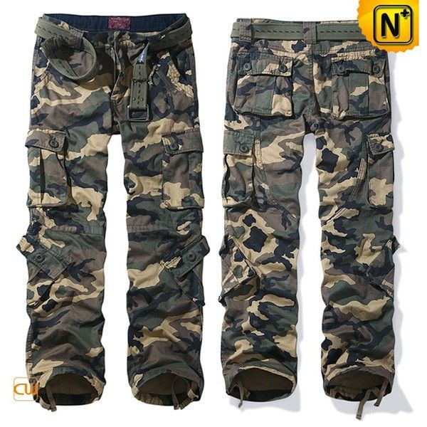 Mens Camouflage Cargo Hiking Pants Trousers Loose Fit CW100058 ❤ liked on Polyvore featuring men's fashion, men's clothing, men's pants, men's casual pants, mens camo cargo pants, mens camouflage cargo pants, mens loose fit cargo pants, mens camo pants and mens cotton pants