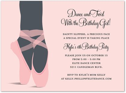 ballerina party invitations - Google Search