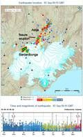 Terremotos cerca de Vatnajökull durante los últimos días (OMI)