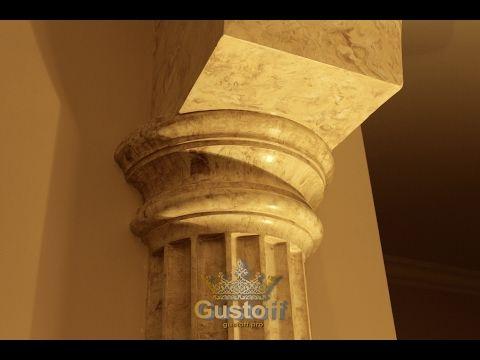 Мраморные колонны - венецианская штукатурка. columns marble Venetian plaster - YouTube