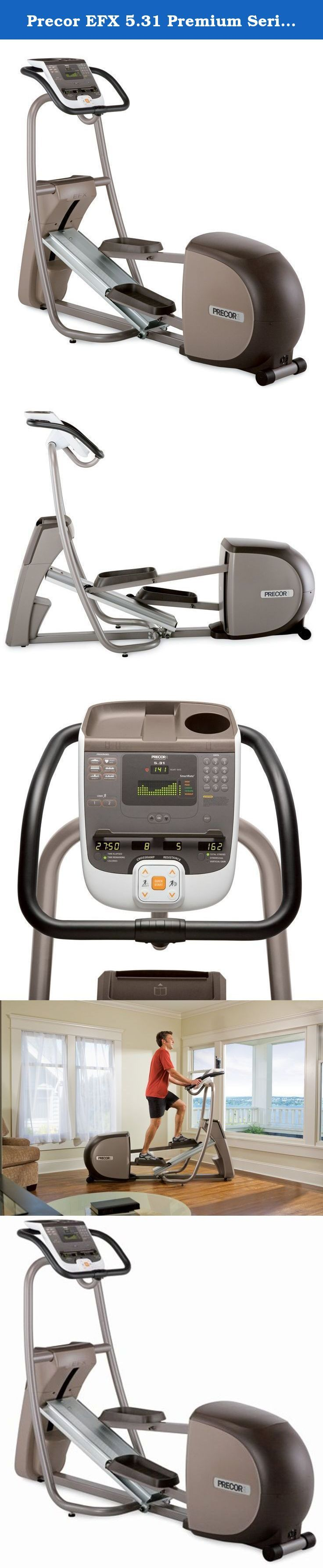 Precor EFX 5.31 Premium Series Elliptical Fitness Crosstrainer. Focus your workouts on toning muscles while building cardio endurance, with the premium Precor EFX 5.31. The Precor EFX 5.31 Elliptical Fitness Crosstrainer provides smooth, natural, low-impact workouts that help you get results.