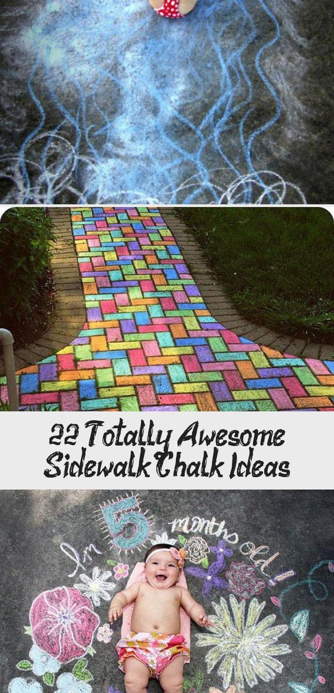 22 Totally Awesome Sidewalk Chalk Ideas   – Ideas