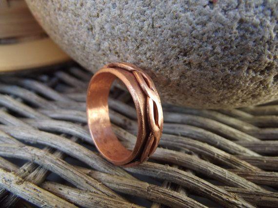 Mens anello di rame anello di rame per gli di silveringjewelry