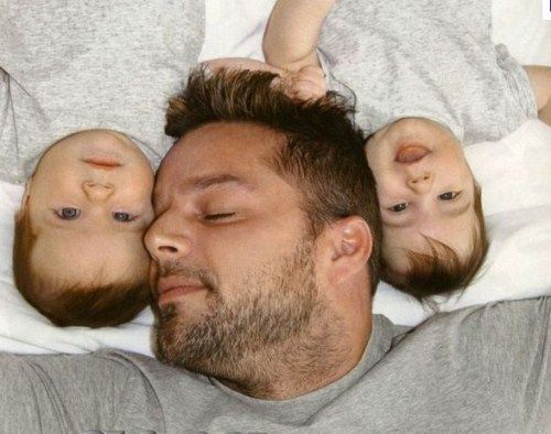 Ricky Martin and sons
