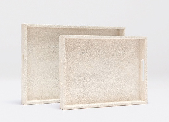 Faux Shagreen Trays (set of 2)   Jen Going Interiors