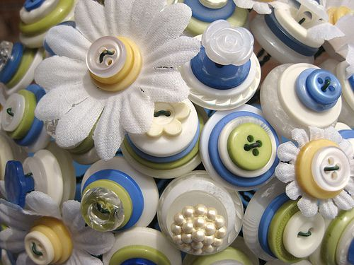 Close up - Button Bouquet by rbkcreations, via Flickr