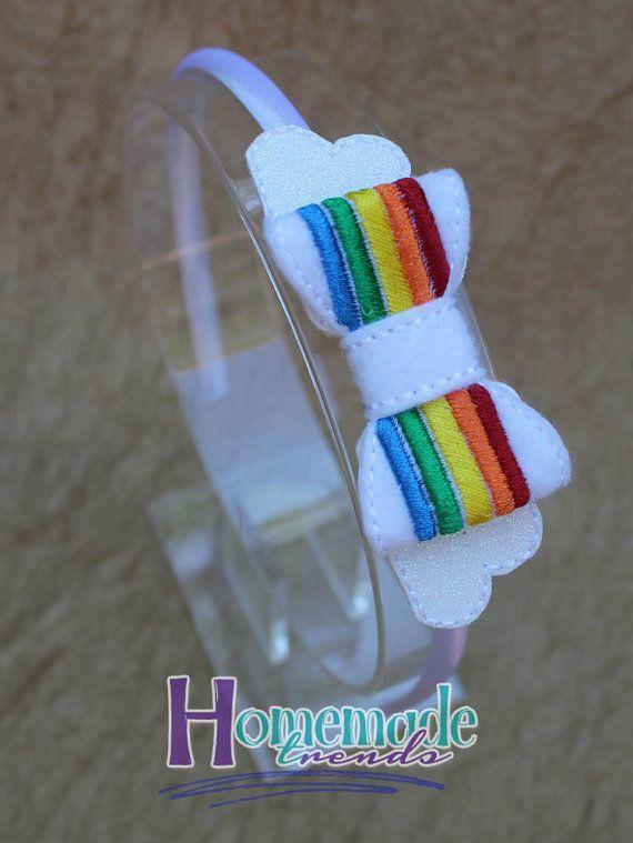 Rainbow Hair Accessory Rainbow Party Headband by HomemadeTrends