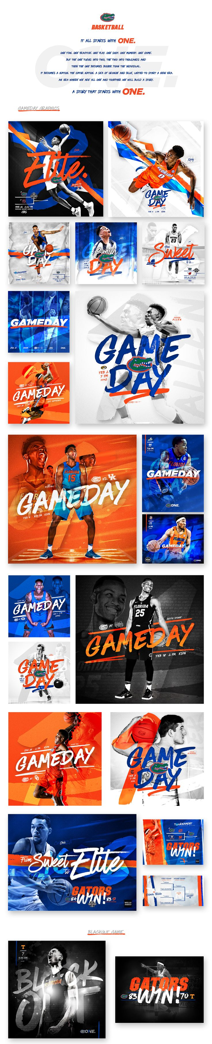 2016-17 Florida Gators Men's Basketball Social Graphics on Behance