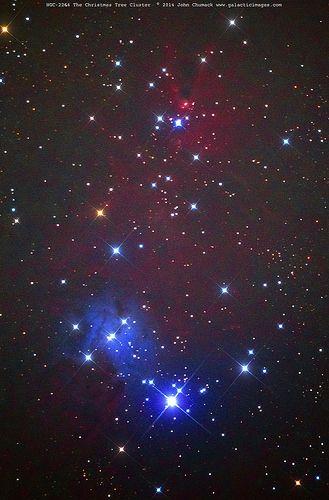 NGC-2264 The Christmas Tree Star Cluster & Fox Fur Nebula on 10-26-2014 | by John Chumack _Observatories