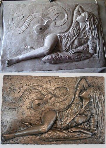 Výroba studeného porcelánu - 3 varianty - Takto vyzerá Mesačná sonáta očami umelca