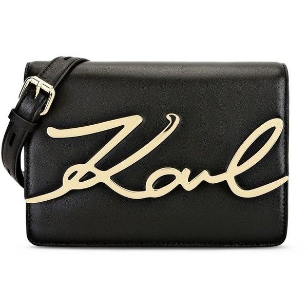 Karl Lagerfeld K/Signature Shoulderbag (6672270 BYR) ❤ liked on Polyvore featuring bags, handbags, shoulder bags, black, mini handbags, karl lagerfeld, shoulder bag purse, karl lagerfeld handbags and shoulder hand bags
