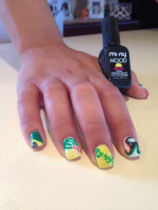 BRAZIL WORLD CUP CONTEST Immagine inviata da Anna Dal Lago.  Tutti gli SMALTI della COLLEZIONE GLAM MI-NY: http://www.minyshop.com/it/12-glam-colors  REGOLAMENTO DEL CONCORSO: https://www.facebook.com/minynails/app_137541772984354  #miny #minycosmetics #contest #nails #nailart #brazil #madeinitaly #italy #brazil #cosmetics #fashion #nailpolish #nails #rio #brazilworldcup #worldcup #mondiali