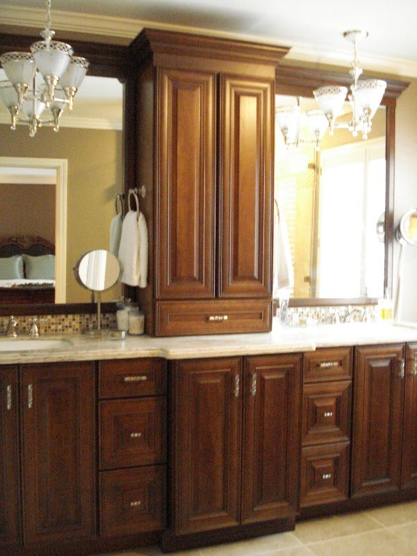 18 best images about for the home on pinterest for Master bathroom cabinet designs