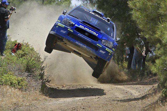 Subaru Impreza WRX rally air