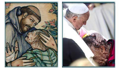 Francisc şi sărutul dat bolnavului