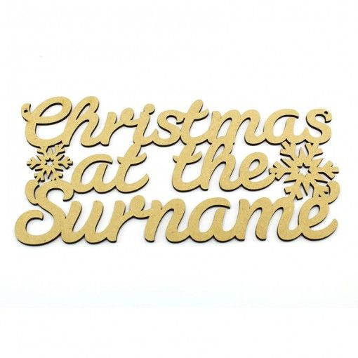 """3mm Christmas at the  """"add own surname"""" blank plaque http://www.lornajayne.co.uk/"""