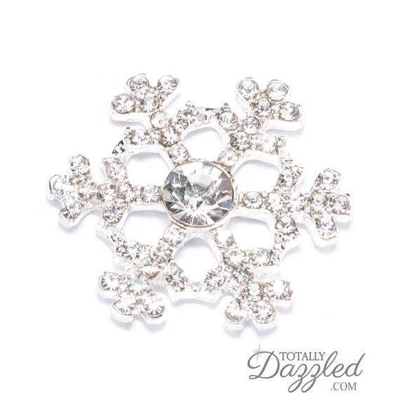 10pcs Rhinestone Snowflake Wholesale Winter by TotallyDazzledBiz