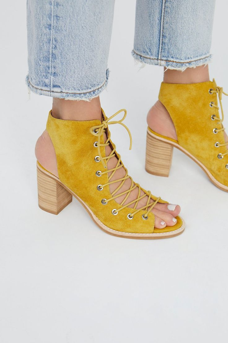 Minimal Lace Up Heel | Free People