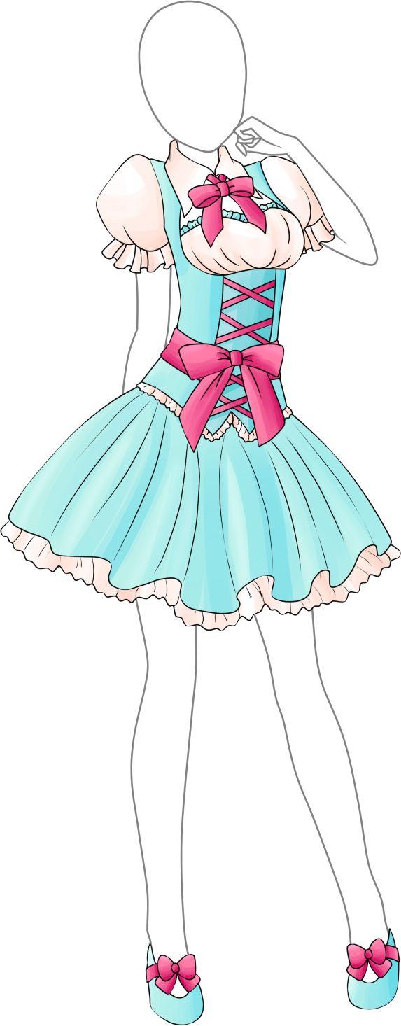 Dress Adoptable 17 - Open by Tropic-Sea.deviantart.com on @DeviantArt