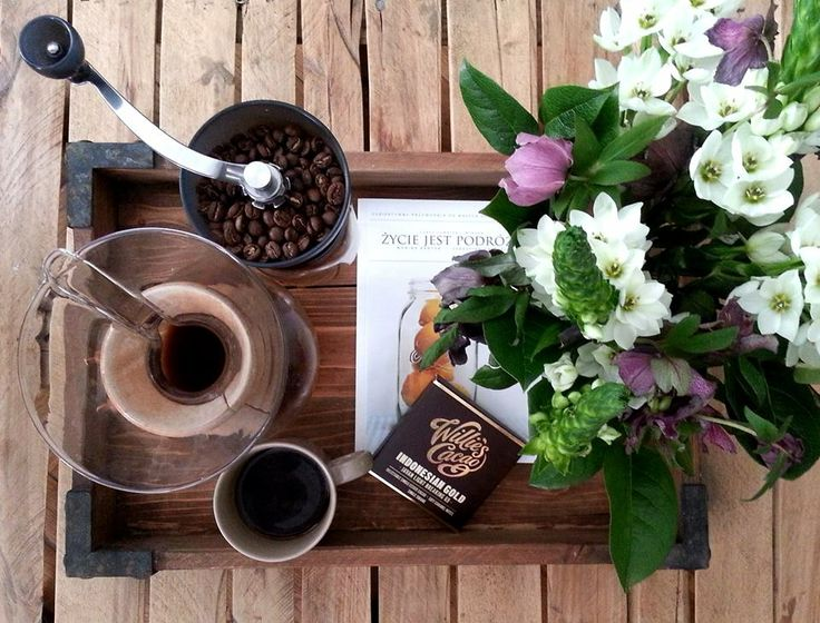 Flowers, coffee and Willie's Cacao. Yes, we are ready for romance.