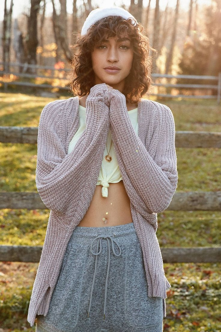 UO Plush Chenille Cardigan | Urban Outfitters