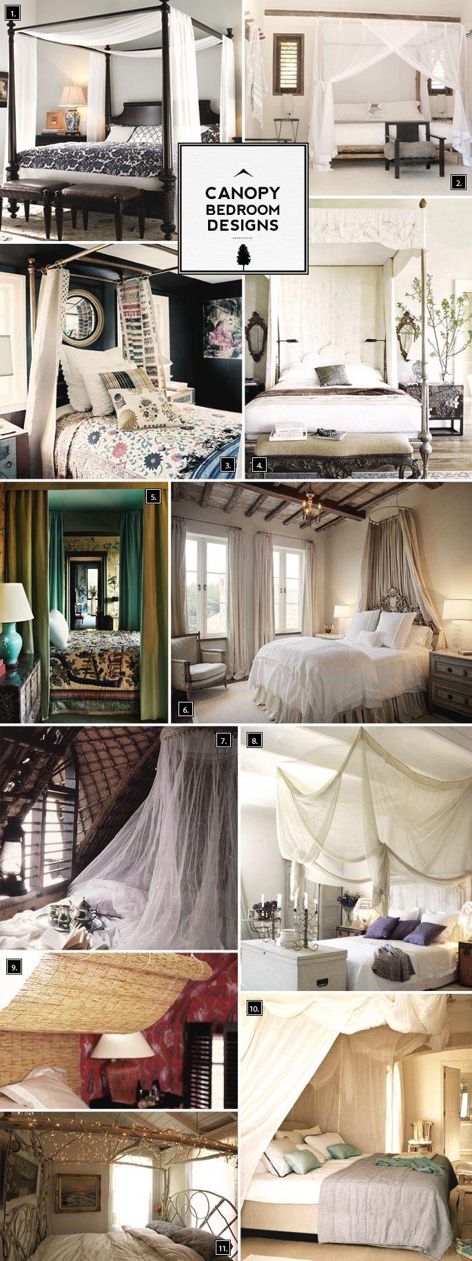 Romantic Ideas: Canopy Bedroom Designs