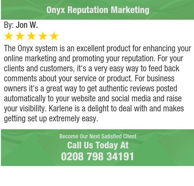 The Onyx system is an excellent product for enhancing your online marketing and promoting...