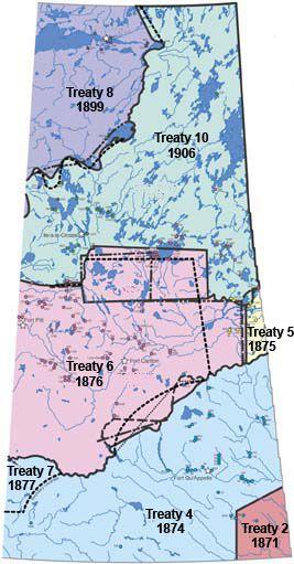Office of the Treaty Commissioner: Canada Treaty Map.