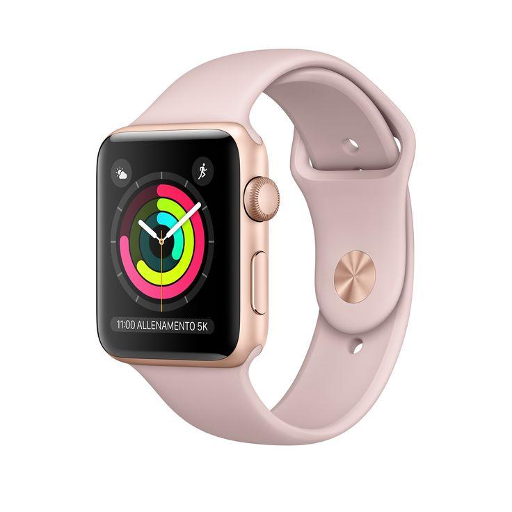 Acquista Apple Watch con cassa in alluminio color oro 38 mm e 42 mm e cinturino Sport rosa confetto. Con GPS e altimetro integrati. Acquista ora: la spedizione è gratuita.