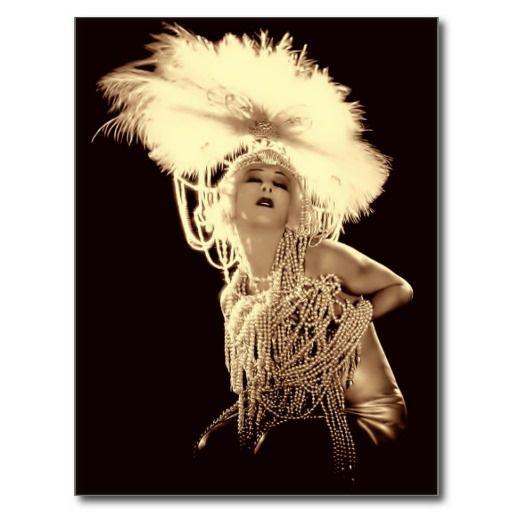 Vintage Showgirl Postcard #vintage #showgirls