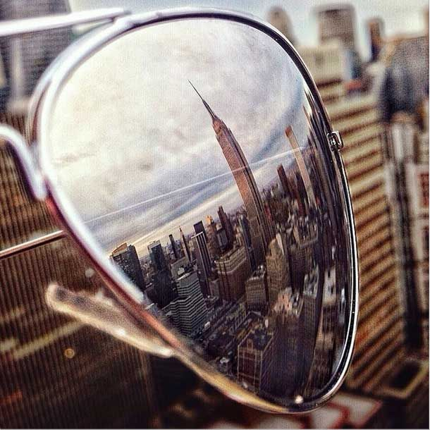 Empire State Building reflected in sunglasses | New York City | NYC
