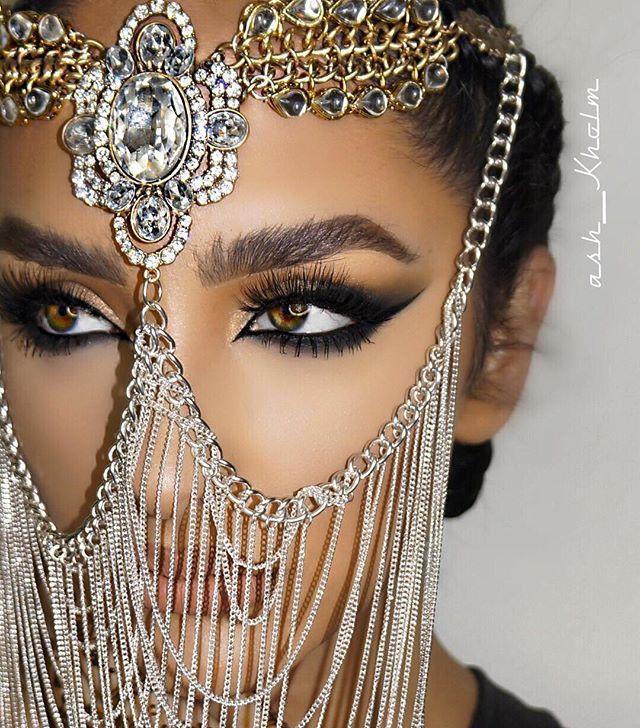 "#ArabianNights  Wearing my fav @lillylashes in ""Kuwait City"" Use code Ash to treat yourself!  ⚡️ Headpiece @regentcouture  Photography  @theprinceofpersia ⚡️ #ashKholm #ashKholmGlam"
