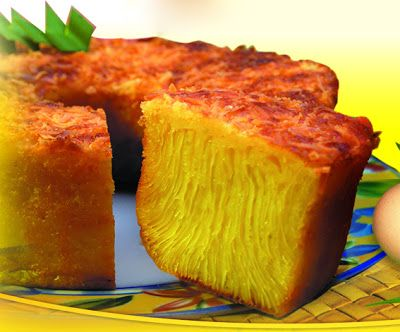 bika ambon | Indonesian Honeycomb Cake