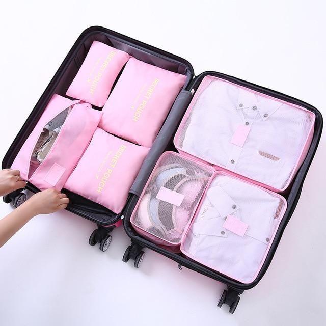 1 Unidades 7 piezas de tela Oxford de alta calidad bolsa de viaje de viaje en ma…