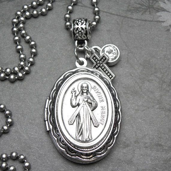 13 best st faustina divine mercy images on pinterest catholic divine mercy jesus catholic holy medal locket by 12starsjewelry aloadofball Gallery