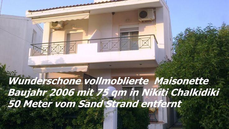 Wunderschöne vollmöblierte  Maisonette Baujahr 2006  mit 75 qm in Nikiti...