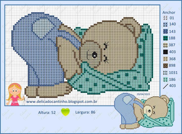Teddy bear x-stitch