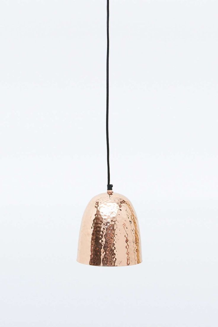 Hammered Pendant Lamp in Copper