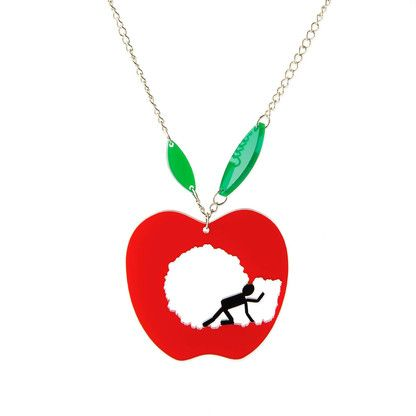 Apple me! pendant necklace by @KiviMeri Gift for apple lovers:)