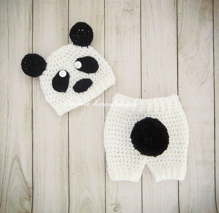 Baby panda outfit - Panda costume for Newborn to 12 Months, Made to order, Great as an Panda Baby Shower Gift! by Amaiahandmade on Etsy
