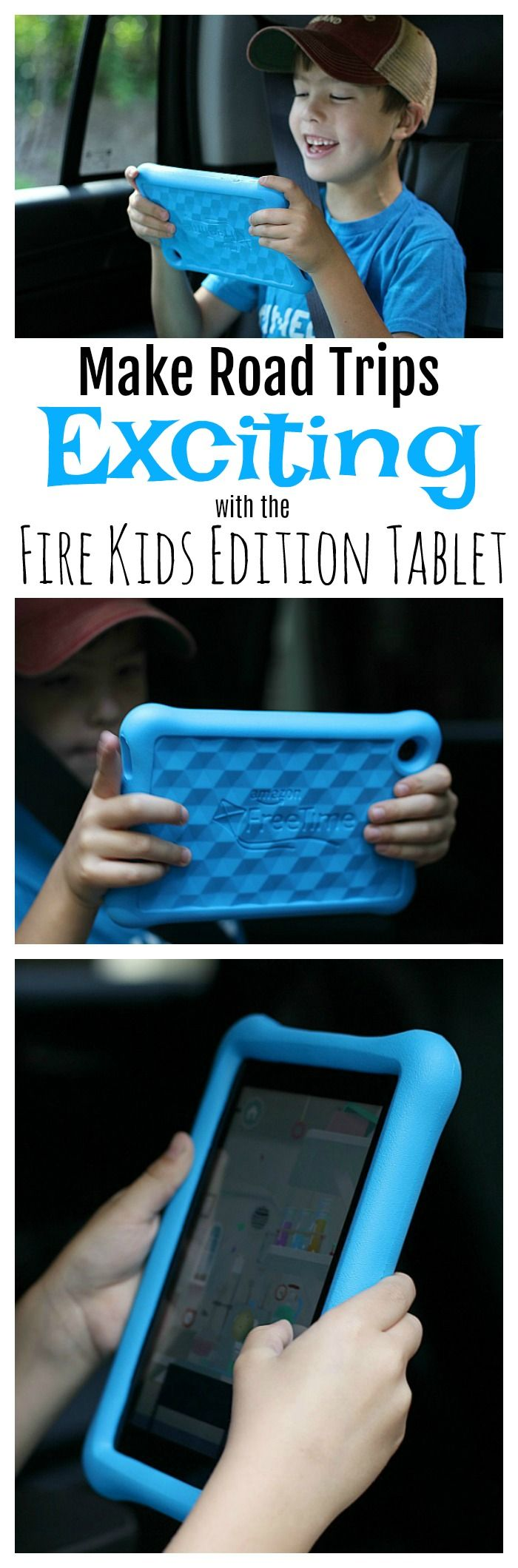 Road trips zoom by when you've got the entertaining and educational library of 10,000 books, apps/games and movies that the @amazon Fire Kids Edition Tablet provides! Find out more and learn how to get your own for less with our 20% off  promo code! #RTfireforkids #ad