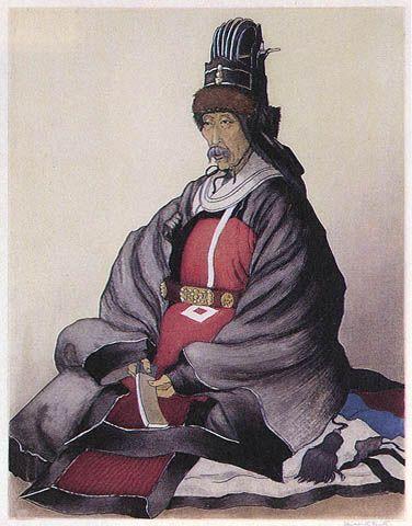 Korean Nobleman by Elizabeth Keith http://www.hanga.com/viewimage.cfm?ID=489