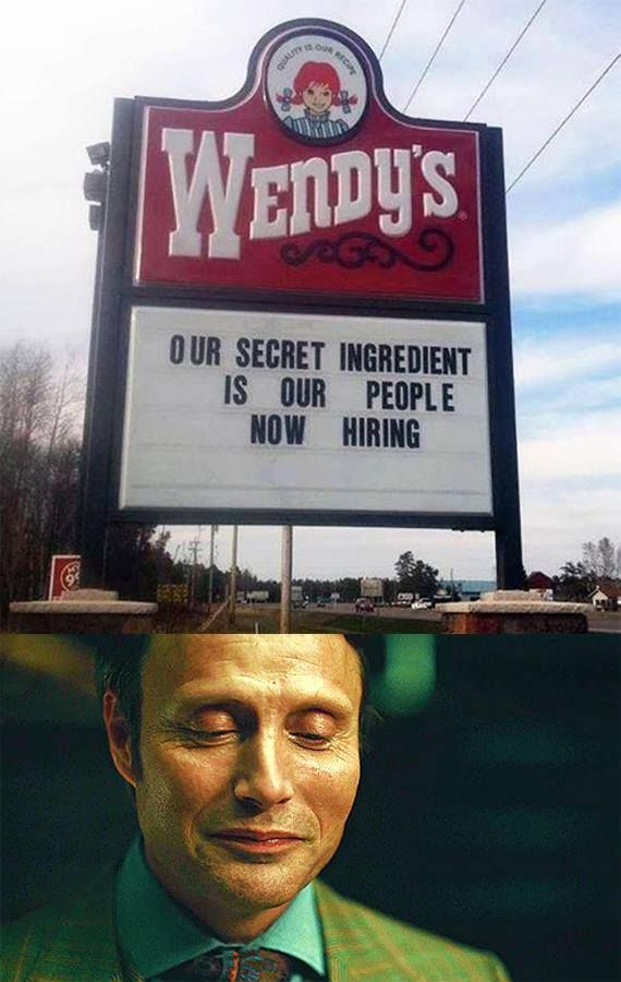 Since watching Hannibal, I've noticed practically everything can be made into a cannibal pun...